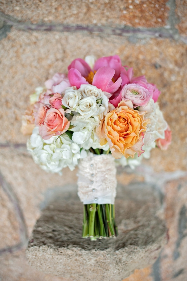 Peony, Rose, And Hydrangea Bouquet