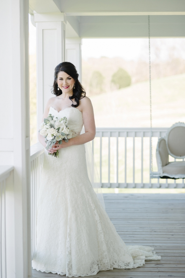 Pretty Bride On Porch