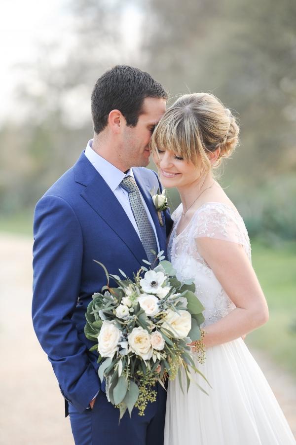 Sweet bride and groom