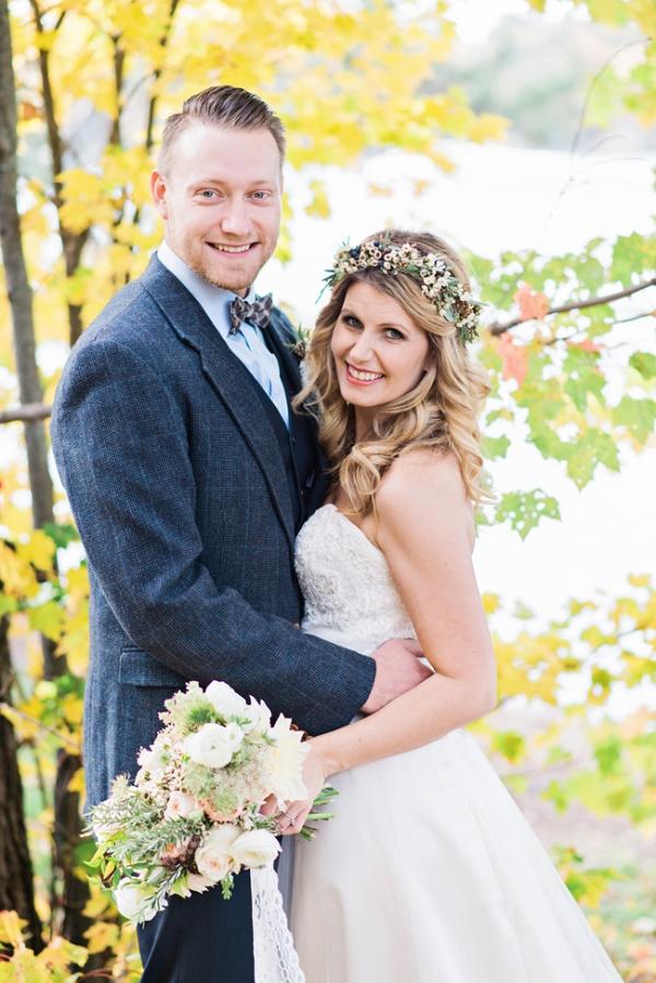 Intimate Wedding Bride & Groom
