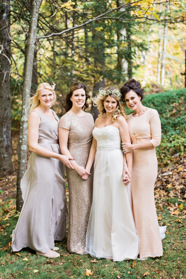 Bride with Bridesmaids in Neutral