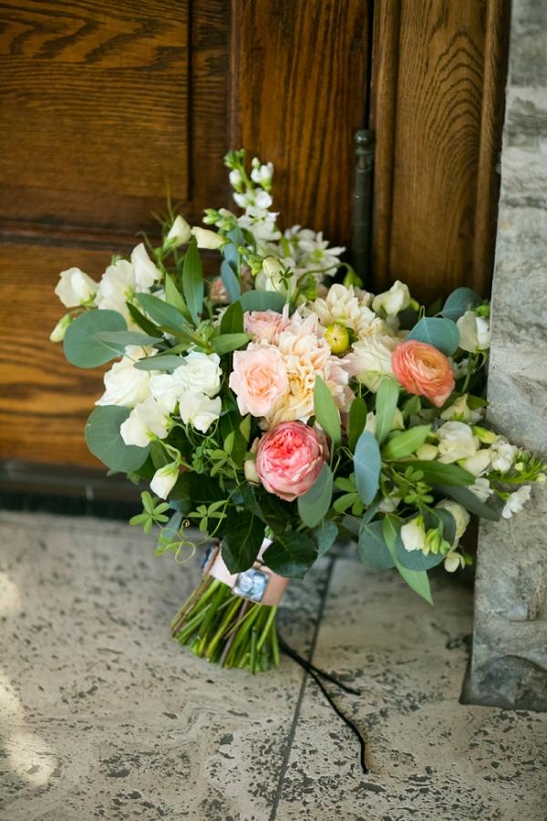Peach and Orange Wedding Bouquet