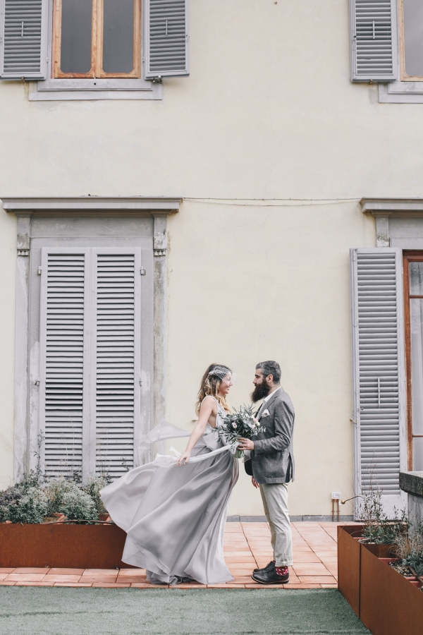 Italian bride and groom
