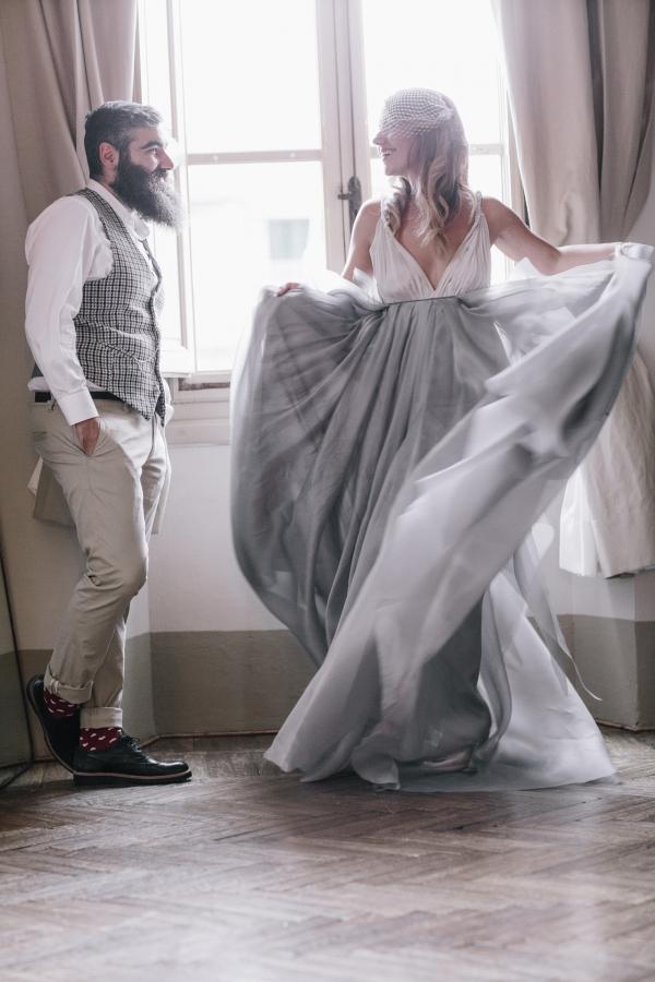 Bride twirling
