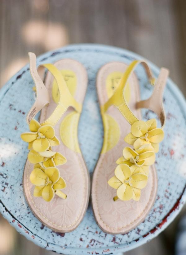 Happy yellow sandals