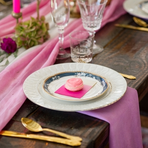 Pink Wedding Table Details