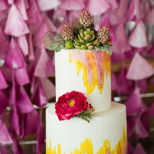 Gorgeous Colorful Wedding Cake