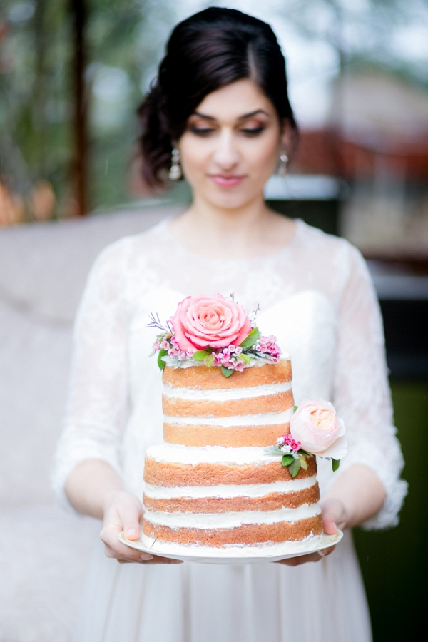 Bride with Naked Cake