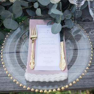 Elegant Forest Wedding Inspiration Place Setting