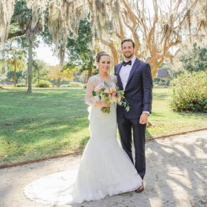 Lovely southern bride and groom
