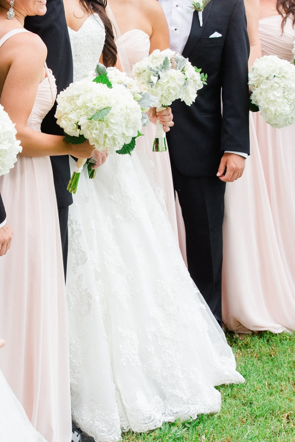 Pink Bridesmaids Dresses & Groomsmen In Black