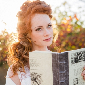 Bride With Vintage Book