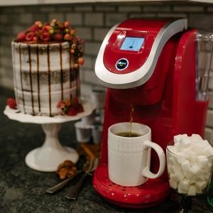 Red Keurig Coffee Brewer