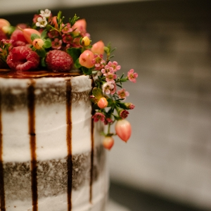 Naked Cake with Fruit & Berries on Top