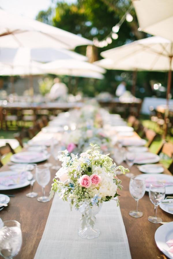 Beautiful outdoor wedding reception
