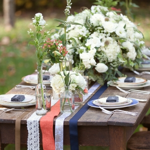 Red, White & Blue Reception Table