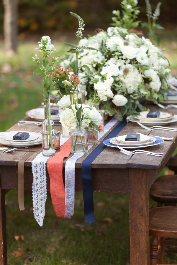 Red White Blue Bohemian Wedding Style Aisle Society