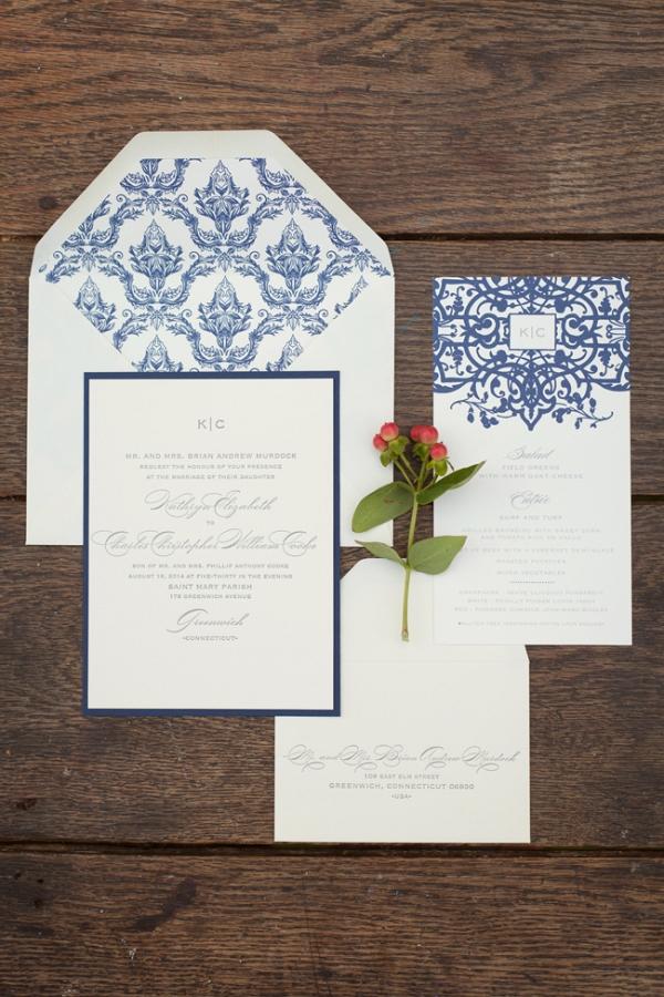 Blue & White Wedding Invitations