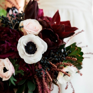 Gorgeous winter floral bouquet