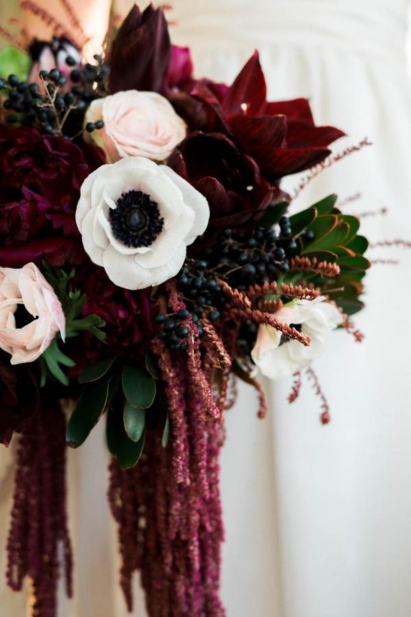 Gorgeous winter floral bouquet