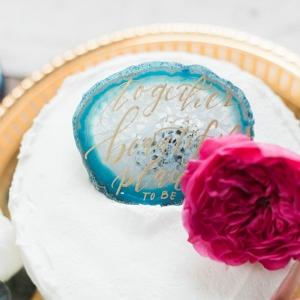 Agate Cake Topper