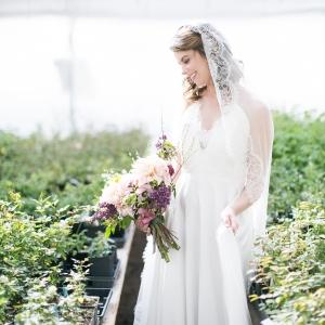 Bride In Greenhouse