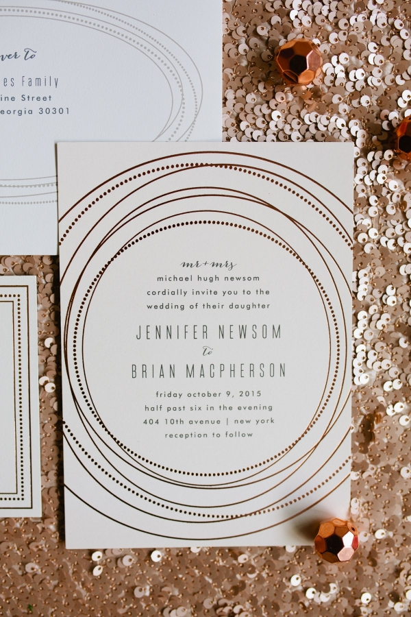 Chic Gold And Ivory Wedding Invitations