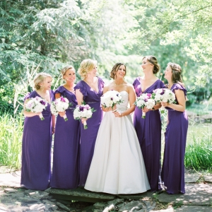 Pretty Purple Bridesmaids Dresses