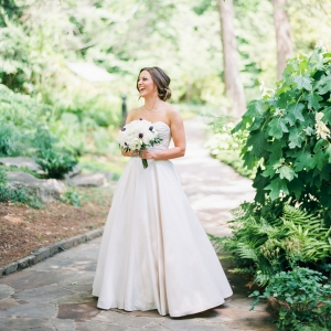 Lovely Bride In Garden