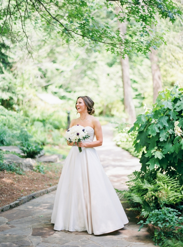 Lovely Bride In Garden