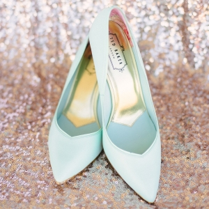 Mint bridal shoes