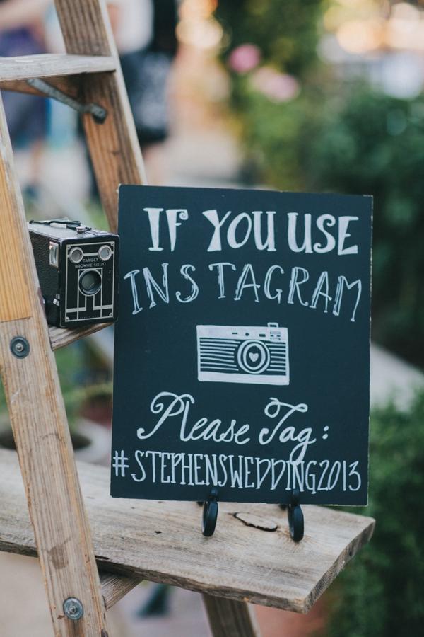 Cute Instagram wedding sign
