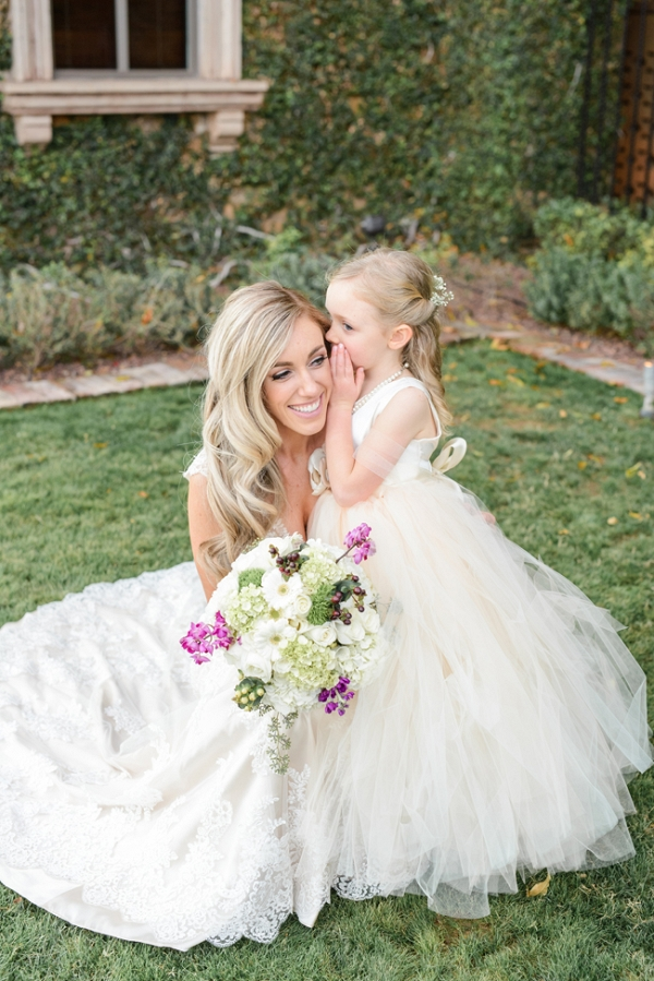 Cute Bride & Flower Girl