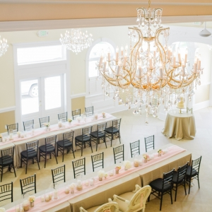 Elegant reception setup