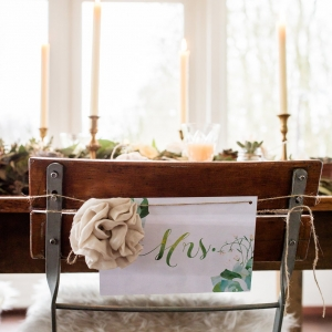 Organic styled wedding table