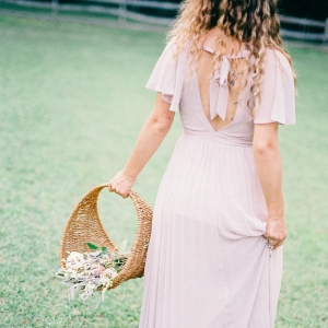 Light gray bridal gown