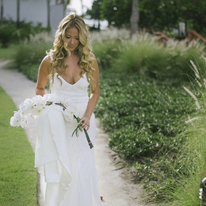 Bride with White Orchids