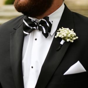 Groom in classy bow-tie