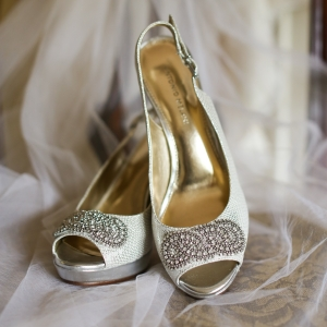 Classy silver shoes
