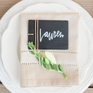 Clean and classy place setting