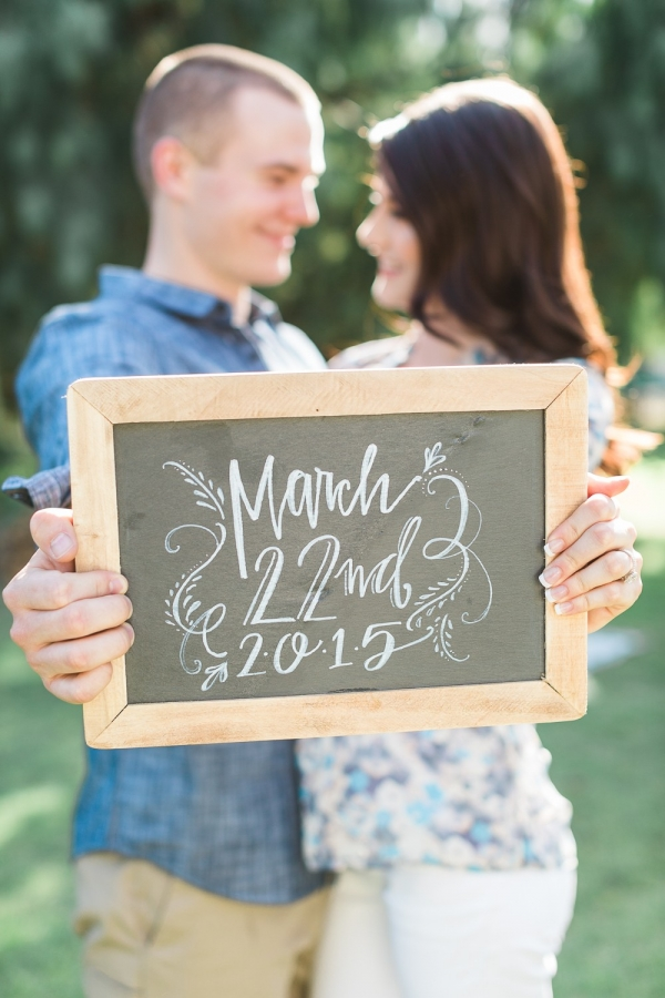 Wedding date chalkboard sign