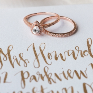 Rose Gold Engagement & Wedding Ring