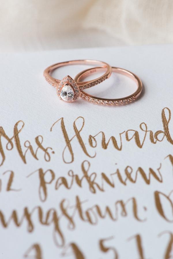 Rose Gold Engagement & Wedding Ring