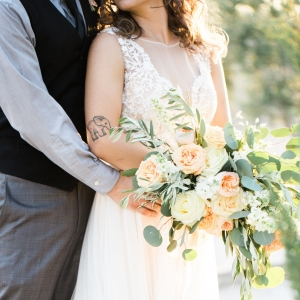Soft palette cascading bouquet