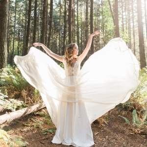 Ethereal bride in Truvelle gown