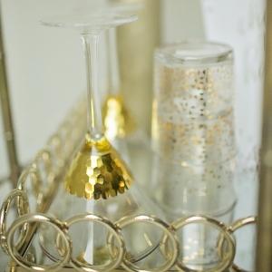 Gold bar cart details