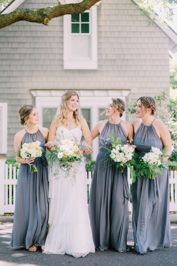 Intimate gray succulent backyard beach wedding aisle for Wedding dresses south florida