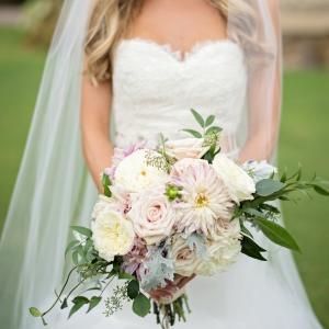 Elegant blush and ivory bouquet