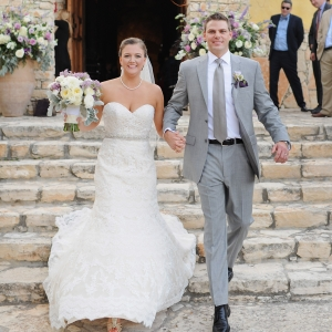 Lilac and gray wedding