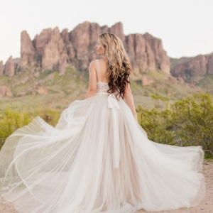BHLDN Penelope gown in desert